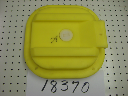 yca 10x10 Rectangular Access Panel - Yellow
