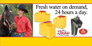 Clinton could use ANY horse waterer - he chooses Ritchie!